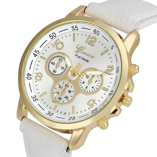 Fashion watch women relogio feminino Unisex Casual Gofuly Leather Quartz Analog Wrist Watch Men Watches Clock Gift relojes mujer