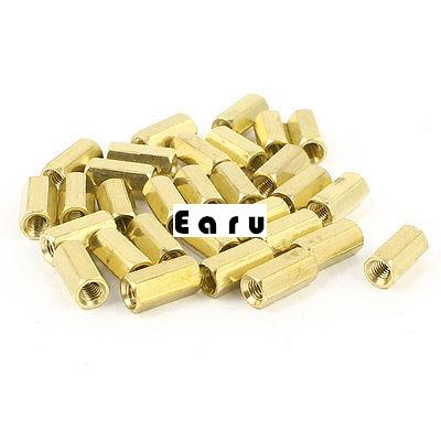 M3 Female Thread Brass Standoff Spacer 10mm Length 30 Pieces m2 3 3 1pcs brass standoff 3mm spacer standard male female brass standoffs metric thread column high quality 1 piece sale