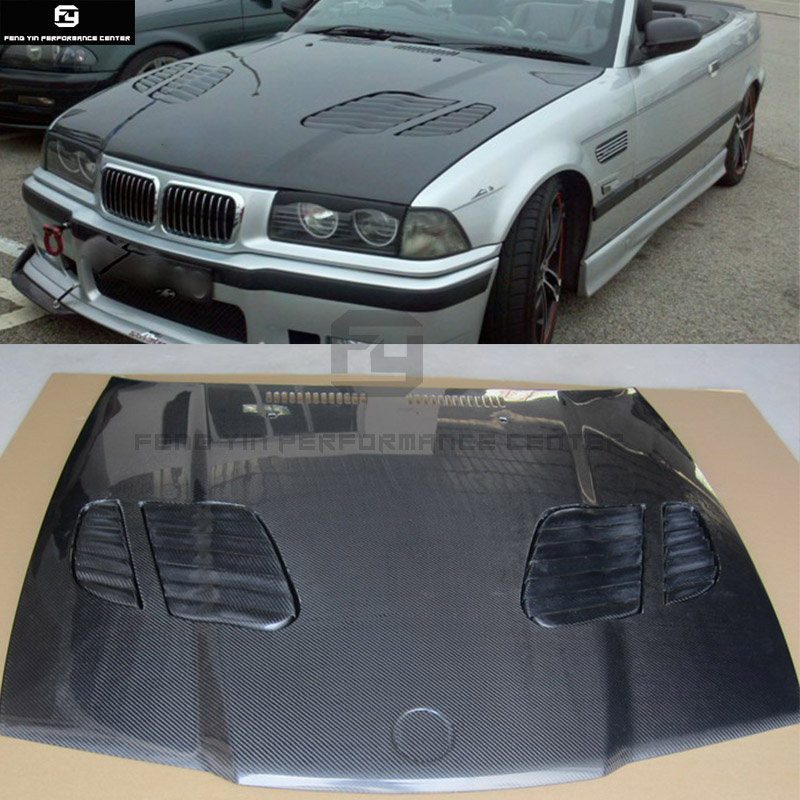 Us 524 79 18 Off E36 3 Series Coupe M3 Style Carbon Fiber Front Engine Hood Bonnets Engine Covers With Vents For Bmw E36 325i Coupe 92 99 In Hoods