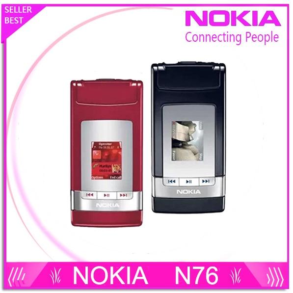 N76 Original Nokia N76 Bluetooth JAVA 2MP Unlocked Mobile Phone Support Russian keyboard Free Shipping