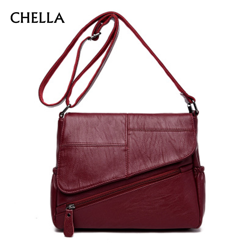 Women Messenger Bags Genuine Leather Female Shoulder Bag Luxury Handbags Women Bags Designer Sheepskin Bolsa Sac A Main SS0352 zackrita genuine leather luxury handbags women bags designer new 2017 large solid tote bag ladies bolsa sac a main bolsos b80