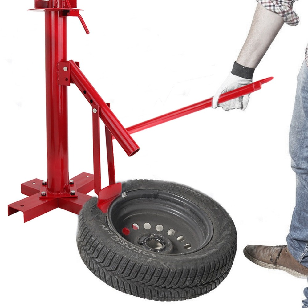 Tyre Changer Manual Portable Home Garage Mount Changer 8'' to 18'' Tires 28mm installation size plastic demounting head with metal flange tyre changer accessory tyre changer tool head