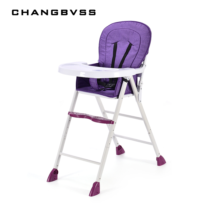 Baby Dining Chair Foldable Multi-Functional Portable Children's Dining Chair Table Chair Can Be Adjusted 4 Colors + Three levels plastic dining chair can be stacked the home is back chair negotiate chair hotel office chair