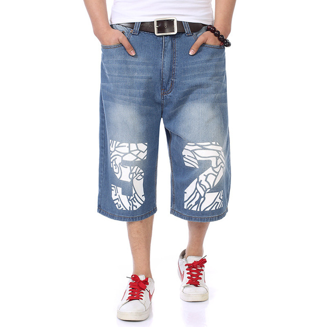 Sommer Stil Herren Hip Hop Gedruckt Denim Shorts Fashion Brand Casual Cargo  Jeans Boardshorts Baumwolle Bermuda 2b46e532ed