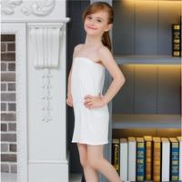 White Kids Girls Long Tube Top Modal Underwear Dress