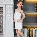 Blanco Niños Niñas Largo Tubo Superior Modal Ropa Interior Vestido