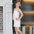 Crianças brancas Meninas Longo Tubo Top Underwear Modal Vestido
