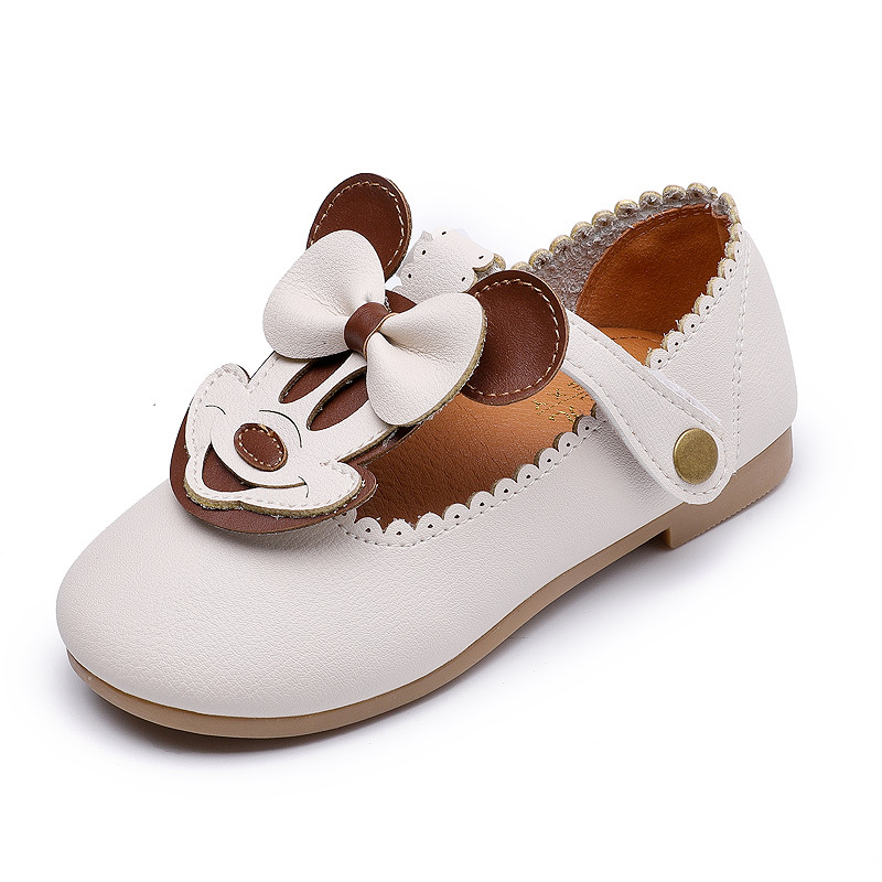 2017 Autumn Baby Girls Leather Shoes Classic Cartoon Children Pu Comfortable Soft Bottom Shoes Casual Style