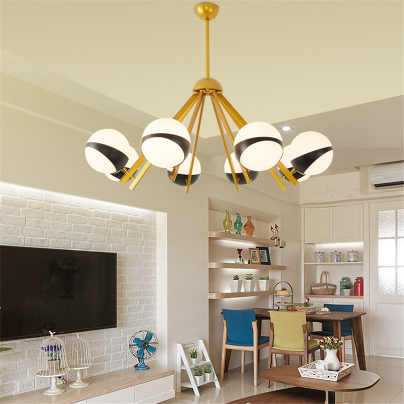 Simple Nordic Living Room Pendant Light Creative Restaurant Lights Bedroom Study Clothing Store Lamp Free Shipping chinese style classical wooden sheepskin pendant light living room lights bedroom lamp restaurant lamp restaurant lights
