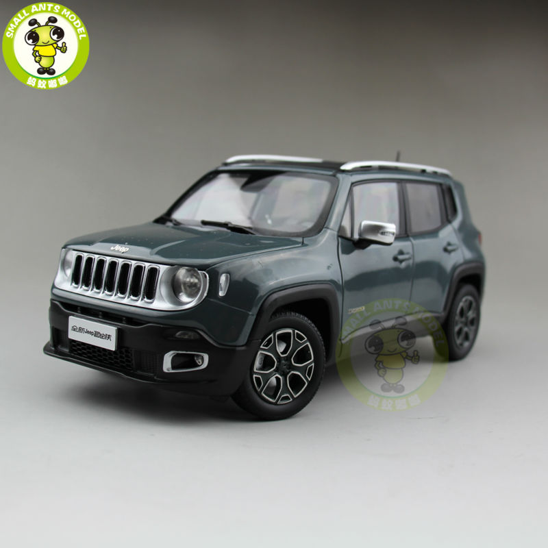 1/18 Jeep Renegade Cherokee Diecast Metal Car Suv Model Collection Gift Anvil Exterior Color 1 18 scale jeep wrangler rubicon diecast metal car suv model maisto 31663 blue