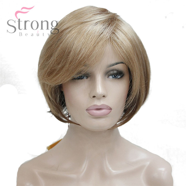 Strongbeauty Frauen Perucken Kanekalon Synthetische Haar Burgunder