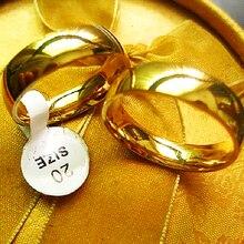 الجملة الكثير السائبة 100 قطعة خاتم الذهب 6 مللي متر الرجال النساء للجنسين مصقول الفرقة بسيطة الكلاسيكية مجوهرات الزفاف الفولاذ المقاوم للصدأ المنتج