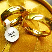 Wholesale lots bulk 100PCs Gold ring 6mm men women unisex Polished band simple classic Stainless Steel Wedding Jewelry product