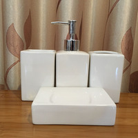1PCS Ceramic Bathroom Product Set 4 pcs set Bathroom Produc Set with Soap Dish Gargle Cup Brush Tooth Cup