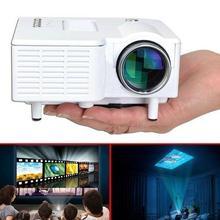 Mini Teatro de Cine En Casa 1080 P Multimedia Portátil USB LED Proyector Portátil VGA USB SD HDMI Adaptador de EE.UU.