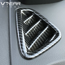 Vlarme pour Hyundai Kona 2018 2019 climatiseur sortie couvercle décoration ABS Chrome intérieur moulures garniture accessoires