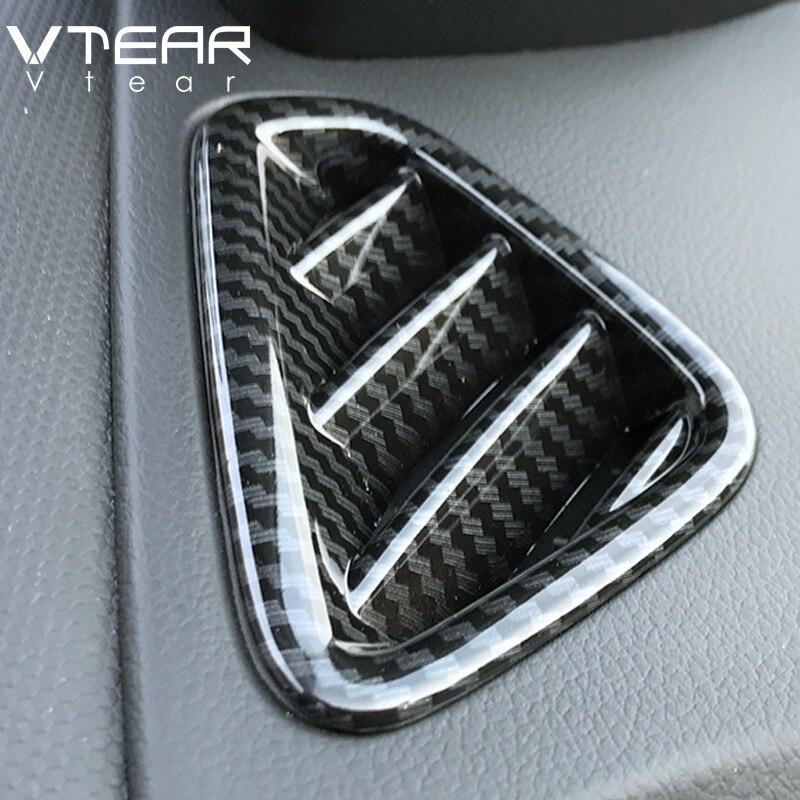 Vtear para Hyundai Kona 2018 2019 aire acondicionado cubierta de salida de ventilación decoración ABS cromo molduras interiores Trim Accesorios