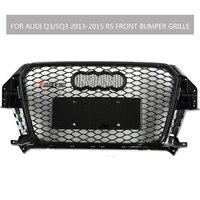 Q3 SQ3 Sline Grille Black Emblem Front Bumper Mesh Radiator Grille For Audi Q3 SQ3 2013