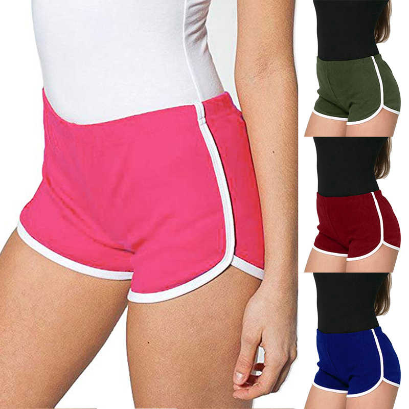 Vertvie 2019 Summer Women Sports Shorts Plu Size Yoga Beach Shorts For Fitness Soft Running Solid Female Yoga Shorts Multicolor