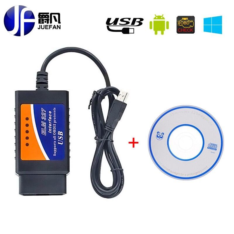 HOT Car diagnostics easydiag ELM327 USB Plastic OBD2 Auto Diagnostic Tool obd 2 usb ELM 327