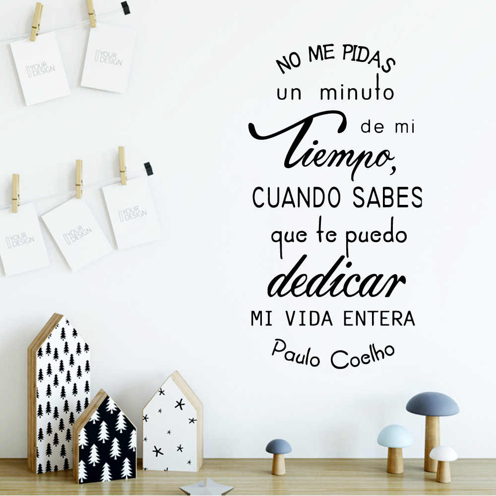 Spanish Quotes Wall Sticker Waterproof Vinyl Wallpaper Decor Bedroom Decorative Wall Phrases Art Decals Wallstickers