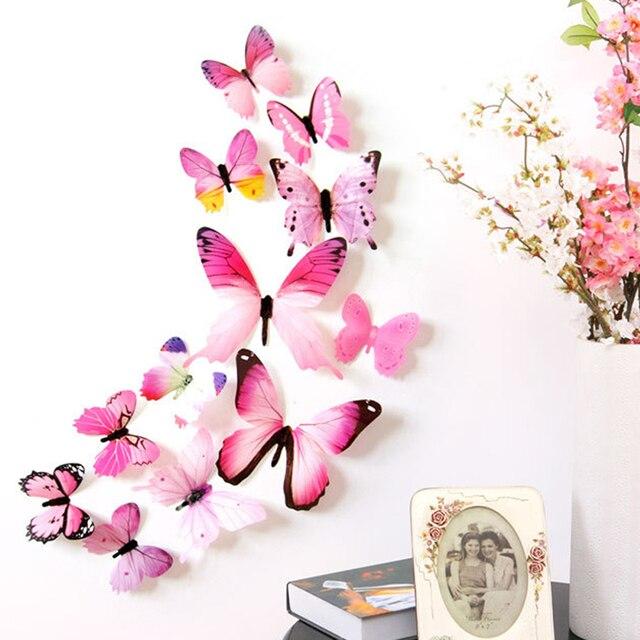 Mờ Phong Cách Bướm Xinh Đẹp Tường Sticker Cho các Cô Gái và Người Phụ Nữ Phòng Ngủ, Cửa Ra Vào & Windows, Khung Ảnh Nội Thất Home trang trí