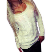 MUQGEW Nice Casual Long Sleeve Loose Cardigan Pullovers Knitted Sweater Backless Knitwear Outwear Coat Women Vetement Femme