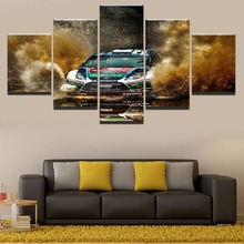 Sports Racing Car Modern Home Canvas Wall Art Picture 5 Pieces Paintings Decor Living Room Artwork