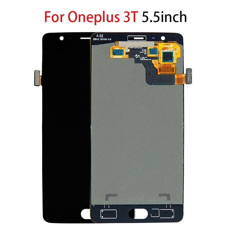 5,5 оригинальный ЖК дисплей для Oneplus 3T A3010 1 + 3T Дисплей кодирующий преобразователь сенсорного экрана в сборе Замена мобильного телефона ЖК ди...
