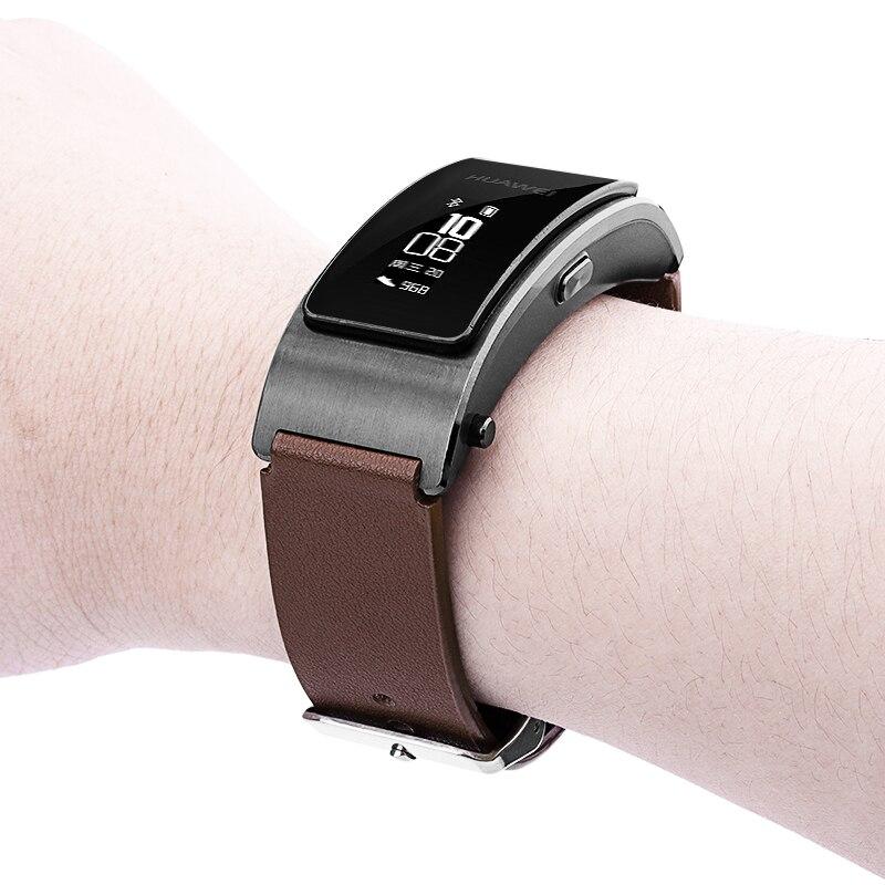 For HUAWEI TalkBand B3 /Lite Leather Strap Replacement Strap For Huawei TalkBand B3 Lite Business Style Bracelet Wristband