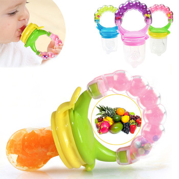 1Pcs Fresh Food Nibbler Baby Pacifiers Feeder Kids Fruit Feeder Nipples Feeding Safe Baby Supplies Nipple Teat Pacifier Bottles