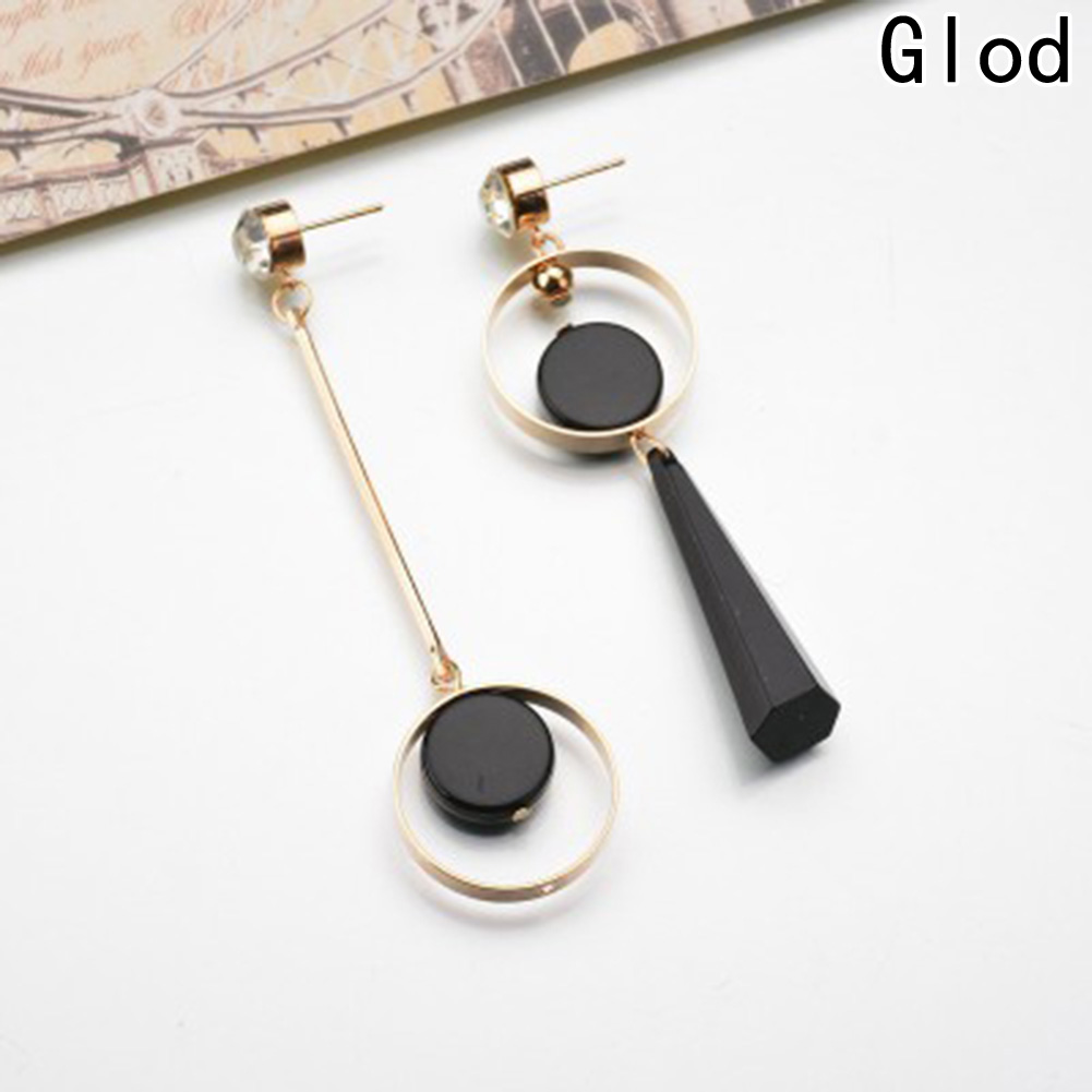 1 пара модные простые Асимметричная круг серьги в европейском и американском стиле длинные серьги кулон оптовая продажа ...