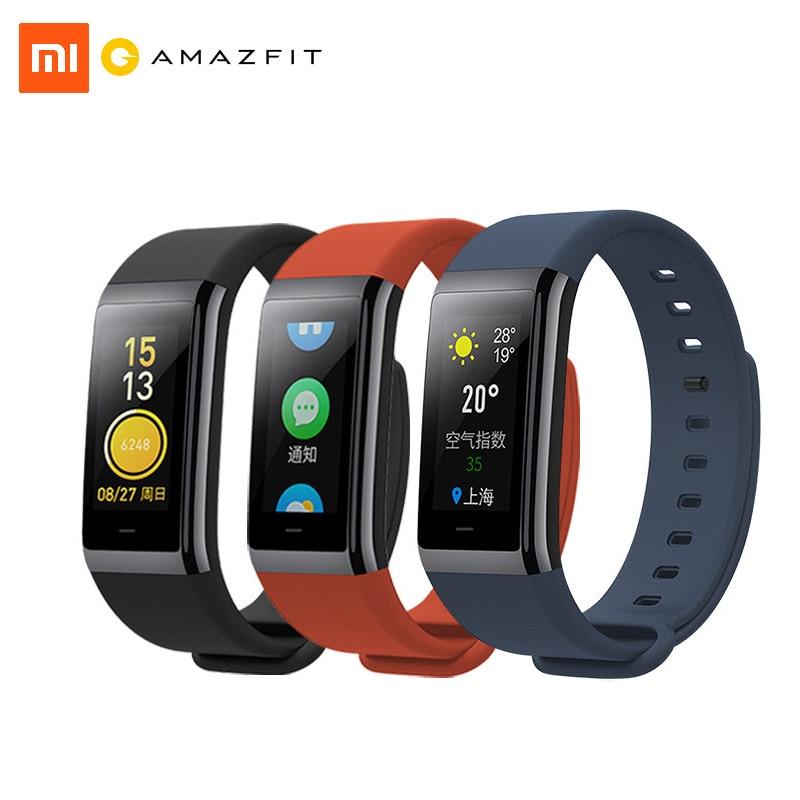 Xiaomi Amazfit Sport Cor Intelligent pour La Santé Bande de Fréquence Cardiaque Fitness Tracker 50 M Étanche 1.23 pouce Couleur IPS Écran 12 Jours veille