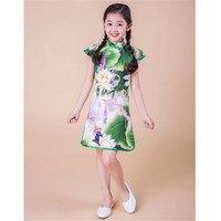 Girl Dress Summer Chinese Style Novatx Kids Baby Girls Party Summer Dresses Kids Princess Dress New