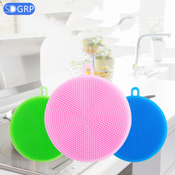 10pcs Cleaning Brushes Silicone Dish Brush Bowl Pan Wash Brushes Cooking Tool Cleaner Sponges Scouring Pads kitchen accessories