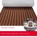 EVA тик настил лист для лодки морская яхта напольный коврик ковер 90cm240cm6mm темно-коричневый с белым катера аксессуары
