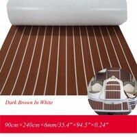 EVA Teak Decking Blatt Für Boot Yacht Marine Bodenbelag Matte Teppich 90cm240cm6mm Dark Braun Mit Weiß Abdichten Boot Zubehör