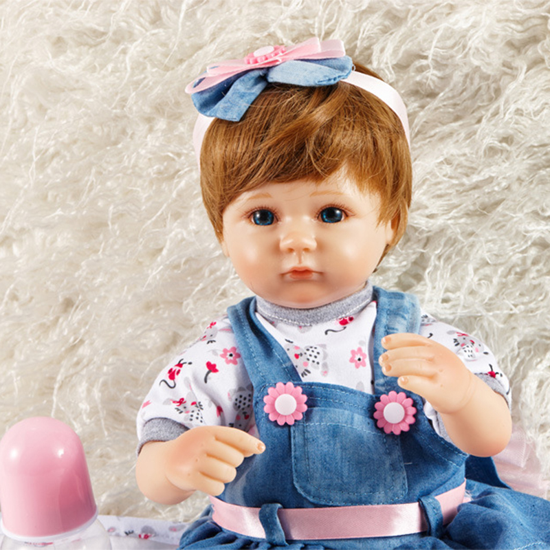 New Silicone Vinyl Doll Reborn Babies 43cm Dolls for Girl Toys Soft Body Lifelike Newborn Baby Bonecas Best Gift For Kids Child1 new 35cm silicone vinyl doll reborn baby dolls girl toys soft body lifelike newborn babies bonecas toy best gift for kid child