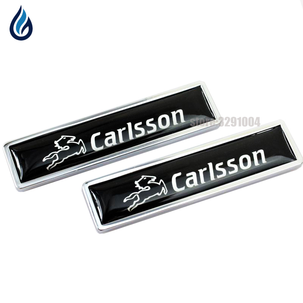 Car Decoration Badge Decals For Mercedes Benz CARLSSON logo Metal Emblem Stickers for w204 w203 w211 w210 w212 w205 cla gla glc auto fuel filter 163 477 0201 163 477 0701 for mercedes benz