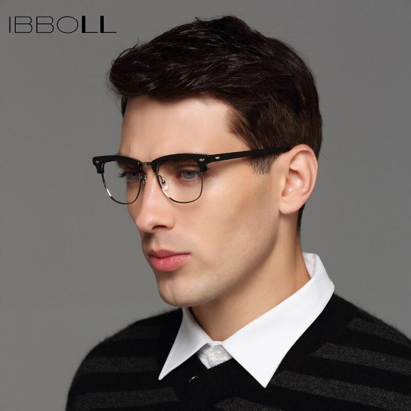 356a2e729bcbd Aliexpress.com   Buy ibboll Vintage Men Optical Glasses Frame Luxury Brand  Clear Lens Eye Glass Frames Mens Round Eyeglasses Male Oculos LA14110 from  ...