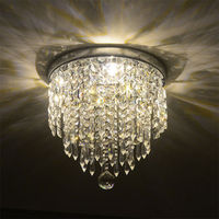 Modern Crystal LED Ceiling Light Bed Room Fixture Kitchen Hallway Lighting Foyer Lamps