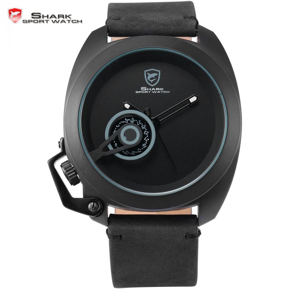 Prix pour Fauve shark sport montre de luxe marque noir élégant date couronne-garde mâle simple militaire montre-bracelet des hommes de mode montres/sh447