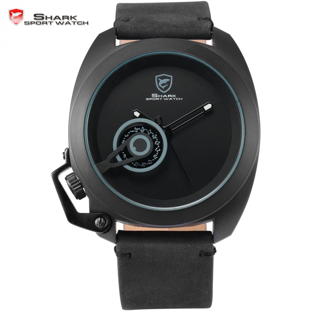 Tawny Shark Sport Watch Luxury Brand Black Stylish Date Crown-guard Male Simple Military Wristwatch Mens Fashion Watches /SH447 greenland shark sport watch brand