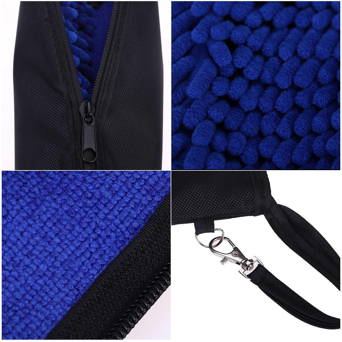 Прочная водопоглощающая вешалка для зонтов и сумок, замок ЗИП-Лок, портативный чехол (синий)