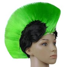 Hot Rainbow Mohawk Hair Wig Fancy Costume Punk Rock Wigs Halloween Cosplay Party H1(China)