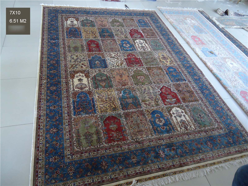7x10ft Turkish Knots Clical Handmade Persian Silk Designer Rugs And Carpets