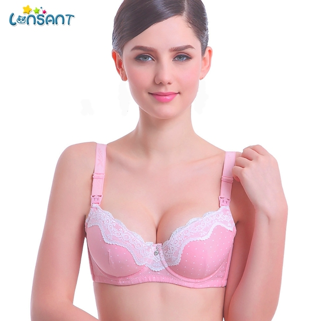 f464ec99ee LONSANT Pregnancy Women Underwear Set Women Breast Feeding Pregnant Mother  Underwire Bra Breastfeeding Clothes Wire Free