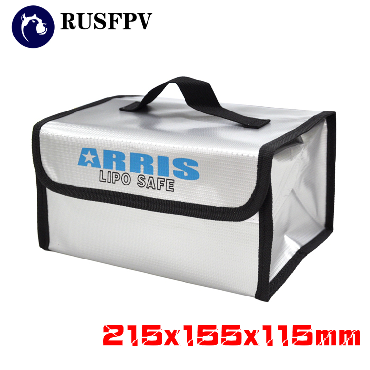 215x155x115mm Fire Retardant LiPo Battery Portable Safety Bag for RC FPV Racing Drone Quadcopter Helicopter free shipping 2017new arrival fireproof rc liposafety bagguard realacc fire retardant battery bag 215 150 110mm with handle