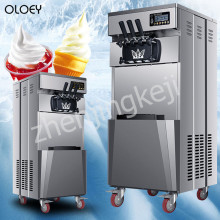 Commercial ice Cream Machine Vertical Soft ice Cream Machine Stainless Steel ice Cream Maker 220V/110V three flavors yield 20L/H недорого