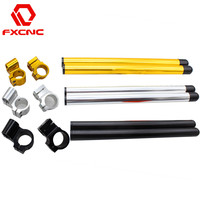 FX CNC 7 8 37mm Motorcycle HandleBars Regular And Raise Clip On Fork Handle Bars Clip